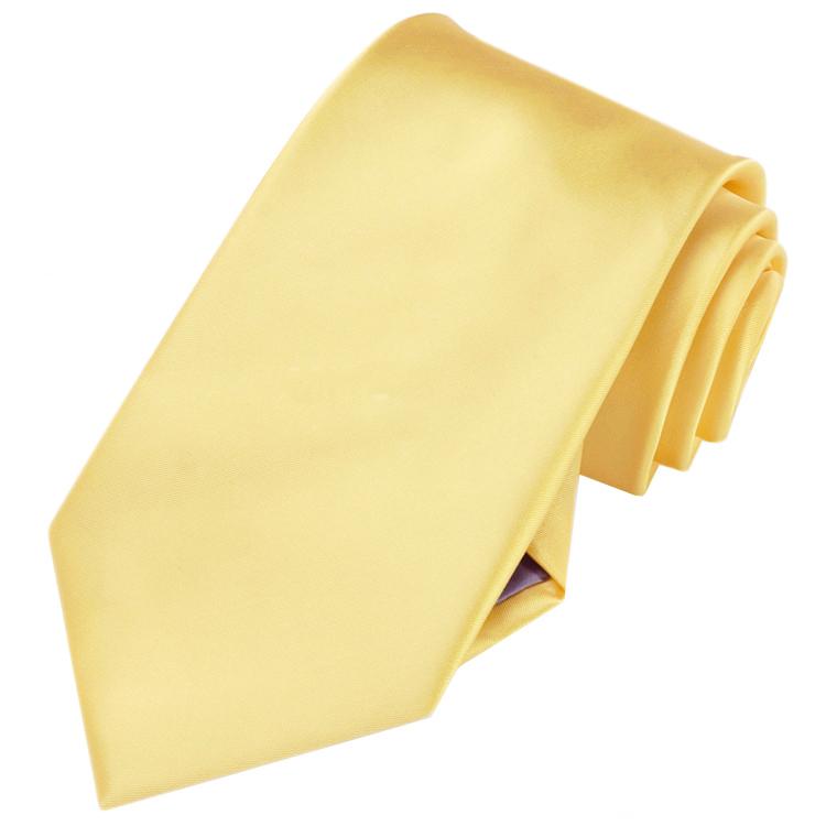 Men's Light Gold Yellow Tie