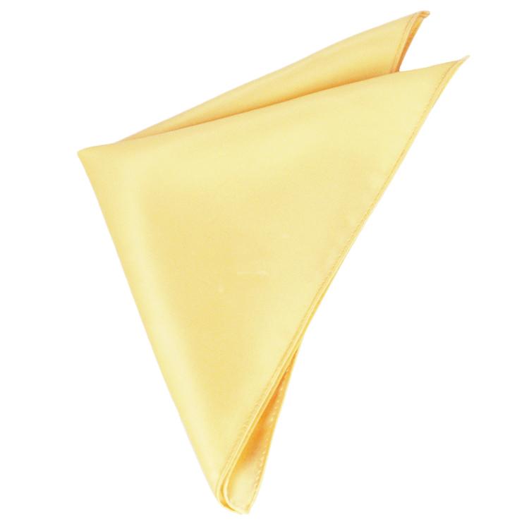 Mens Light Gold Yellow Pocket Square