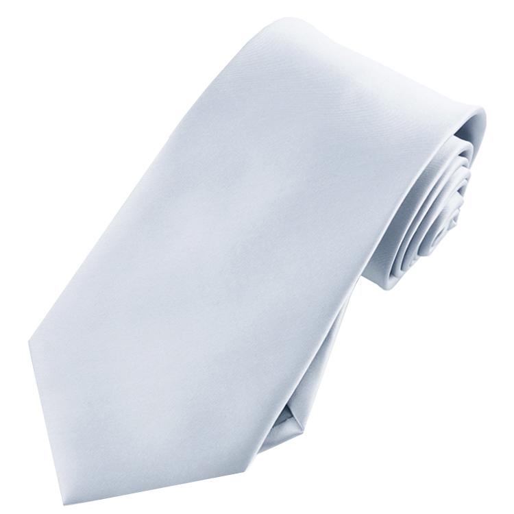 Mens Light Silver Grey Tie