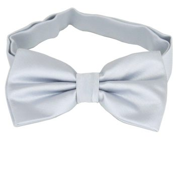 Light Silver Grey Bow Tie