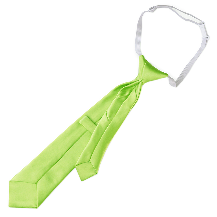 Lime Green Junior Boys Elasticated Tie