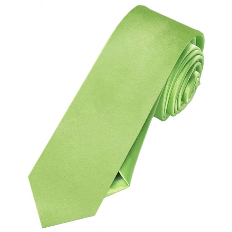 Mens Lime Green Skinny Tie