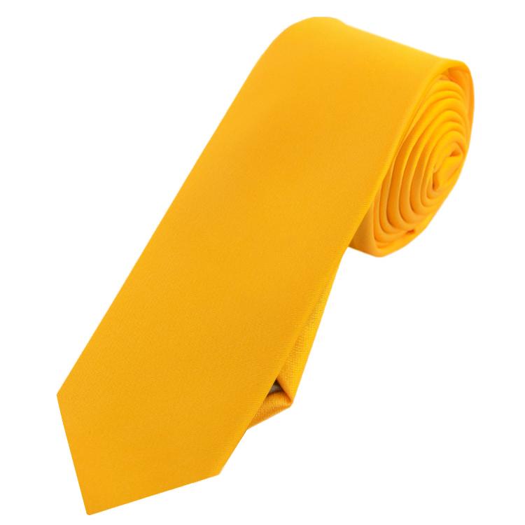 Mens Marigold Bumblebee Yellow Skinny Tie