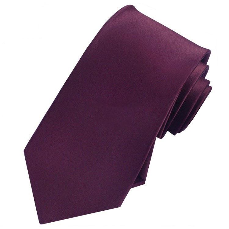 Men's Maroon Deep Burgundy Tie