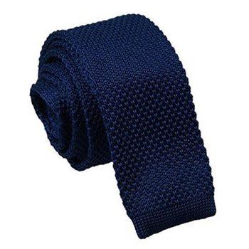 Mens Navy Dark Blue Knitted Tie