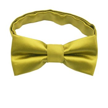 Metallic Gold Boys Bow Tie