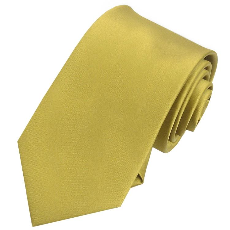 Men's Metallic Gold Tie