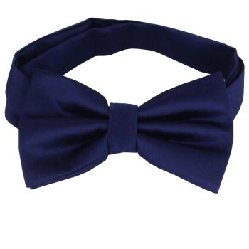 Midnight Dark Blue Bow Tie