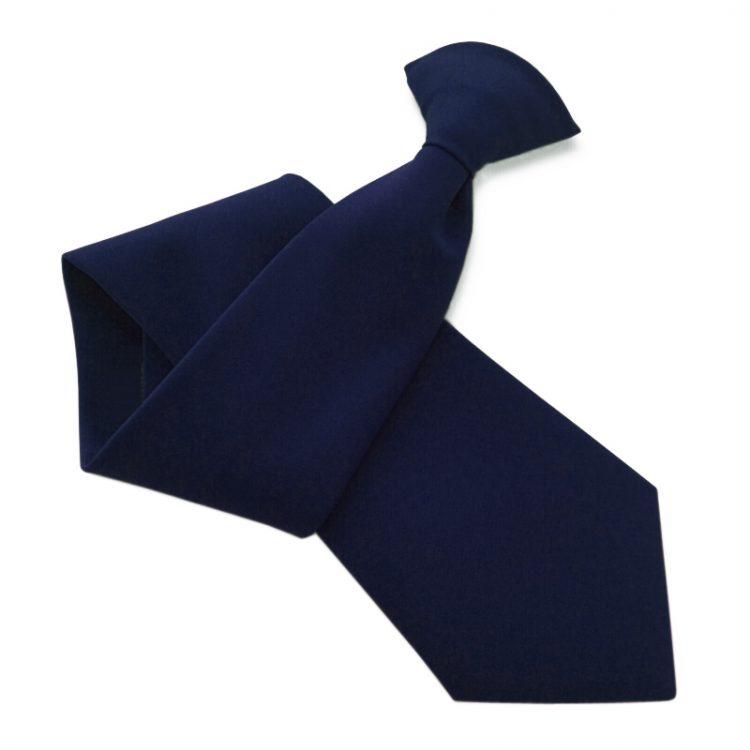 Mens Midnight Blue Clip On Tie