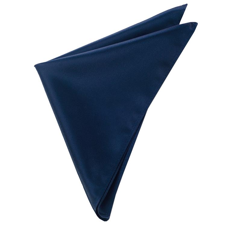 Mens Midnight Dark Blue Pocket Square