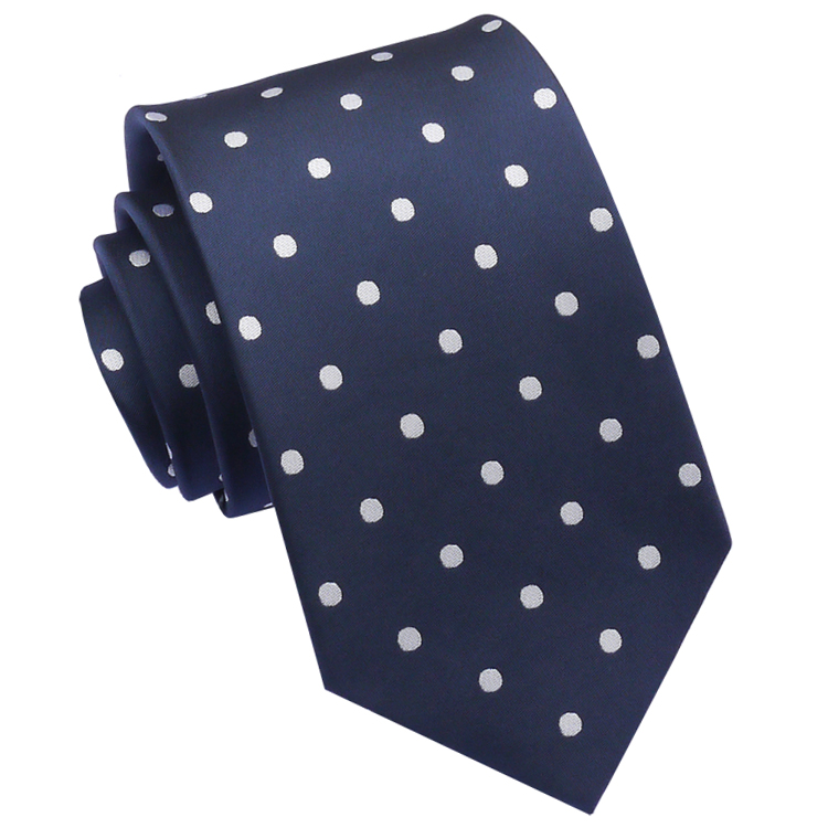 Midnight Blue Polka Dot Mens Tie