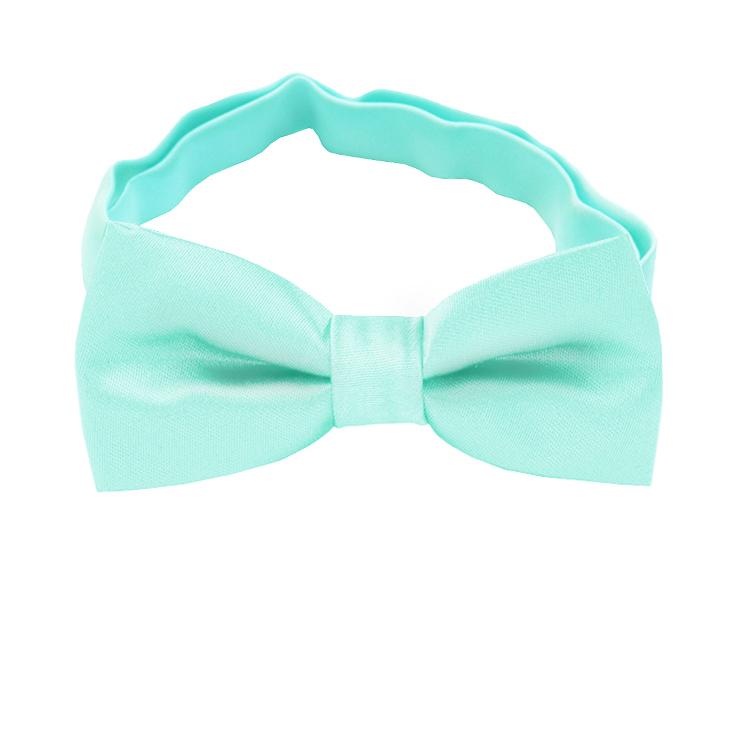 Mint Light Green Boys Bow Tie