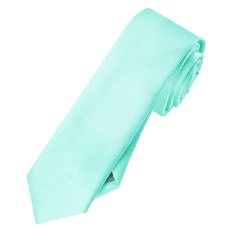 Mens Light Mint Green Tiffany Skinny Tie