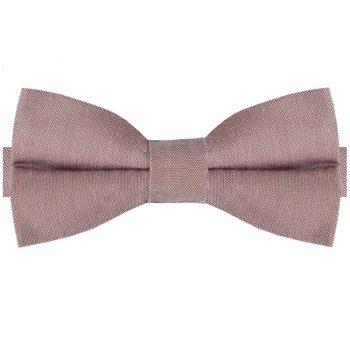 Mocha Light Brown Cotton Mens Bow Tie
