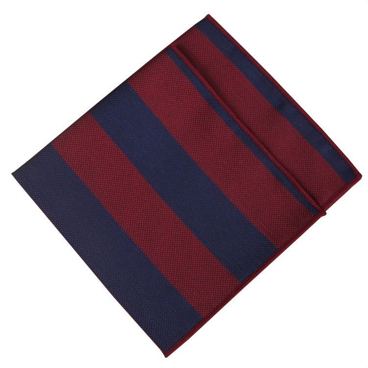 Navy and Red Pocket Square
