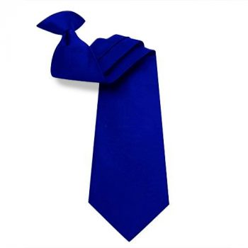 Mens Navy Blue Clip On Tie
