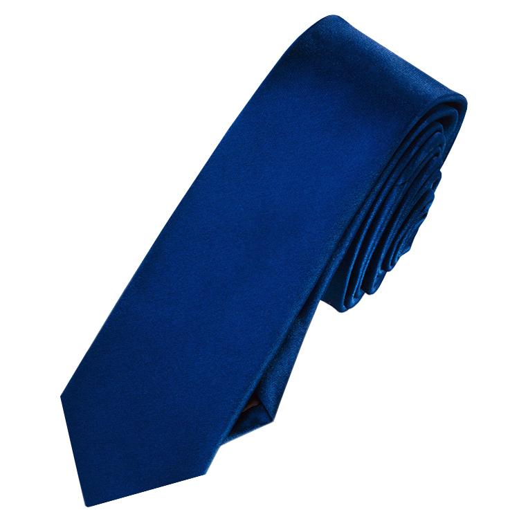 Mens Navy Blue Skinny Tie