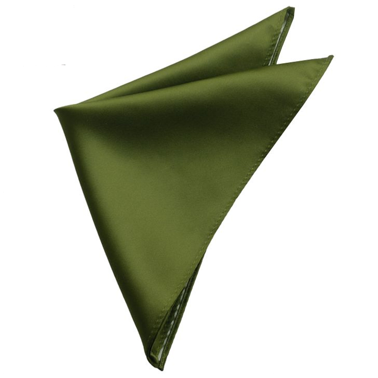 Mens Olive Green Pocket Square Handkerchief