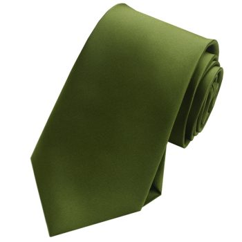 Mens Olive Green Tie