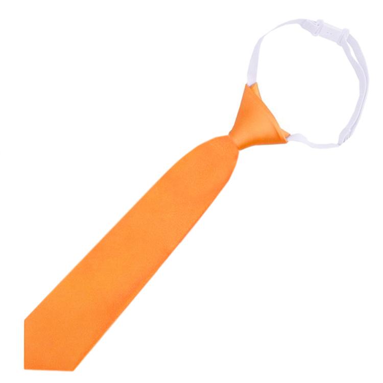 Orange Junior Boys Elasticated Tie