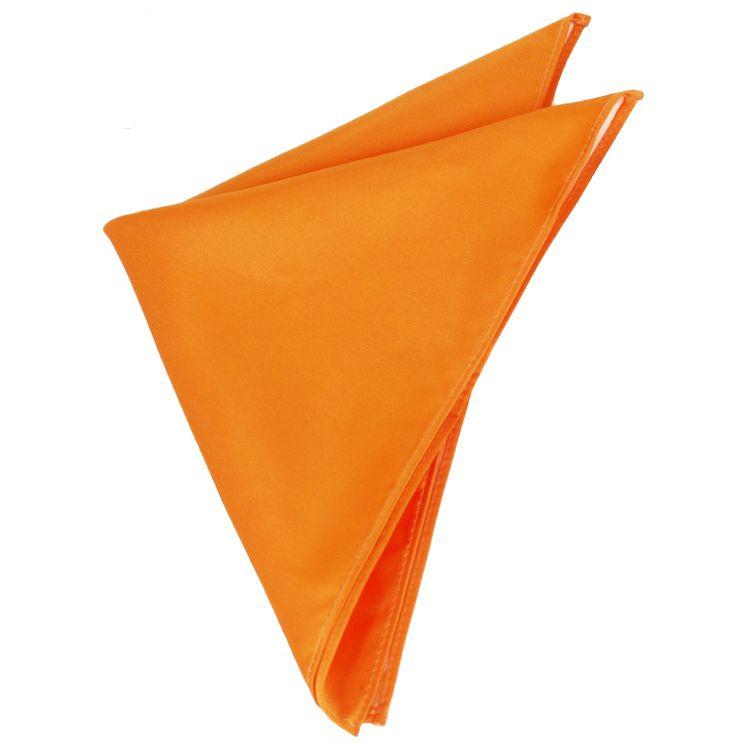 Mens Orange Pocket Square Handkerchief