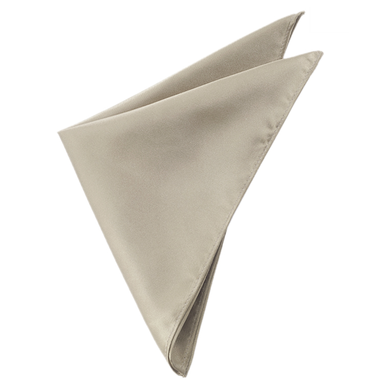 Mens Platinum Champagne White Gold Handkerchief