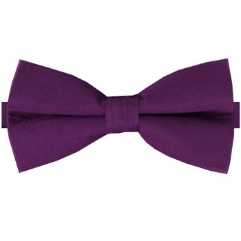 Plum Purple Cotton Men's Bow Tie