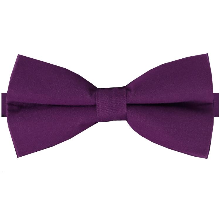 Plum Purple Cotton Men's Bow Tie