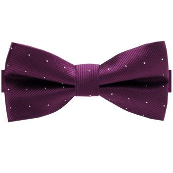 Plum With Small Polka Dots Bow Tie