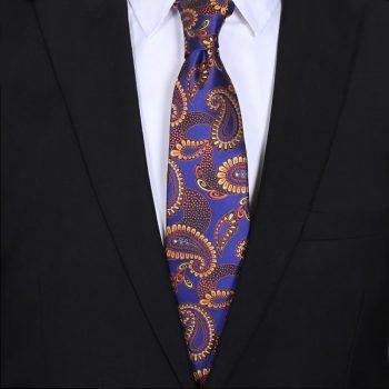 Purple Indigo With Gold Paisley Mens Tie
