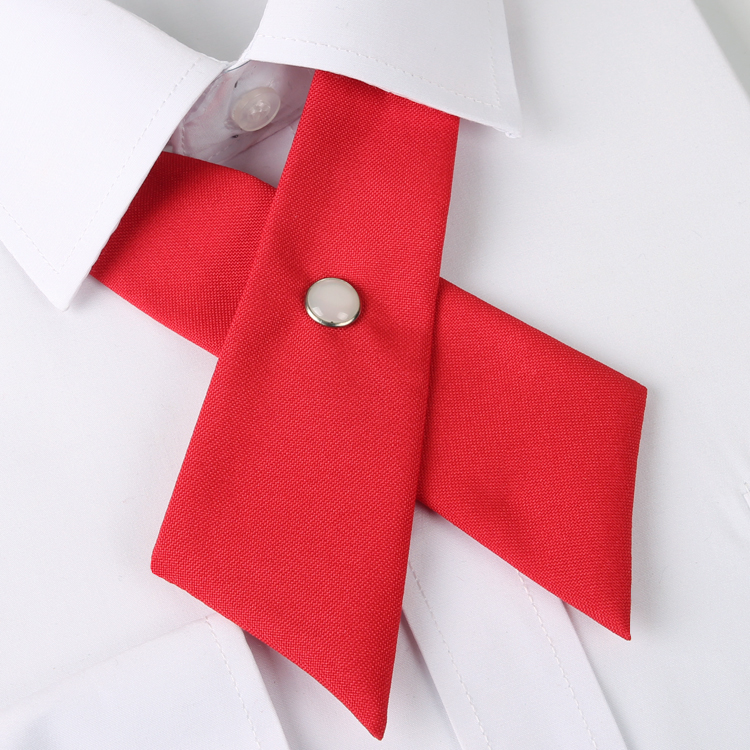 Cherry Red Cross Style Bow Tie