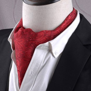 Men's Red Paisley Ascot Cravat