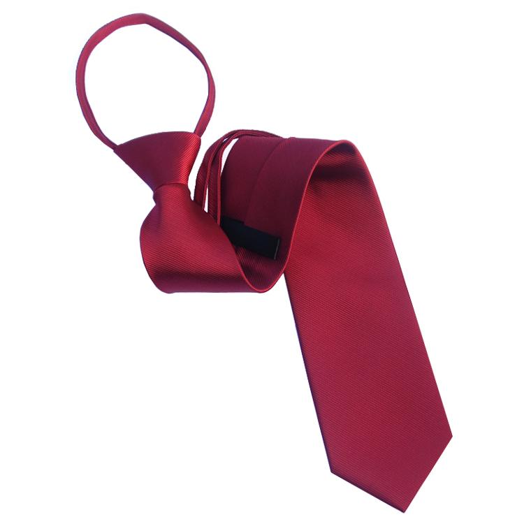 Mens Scarlet Red Zipper Tie