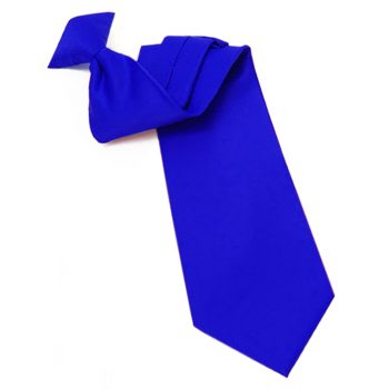 Mens Royal Blue Clip On Tie
