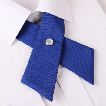 Royal Blue Cross Style Bow Tie