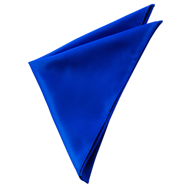 Mens Royal Blue Plain Pocket Square