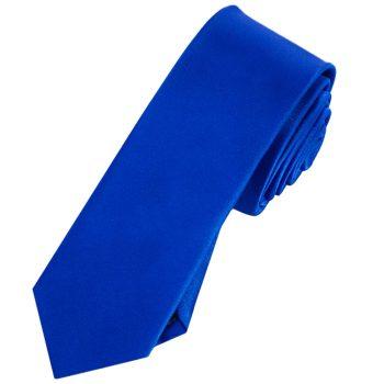 Mens Royal Blue Skinny Tie