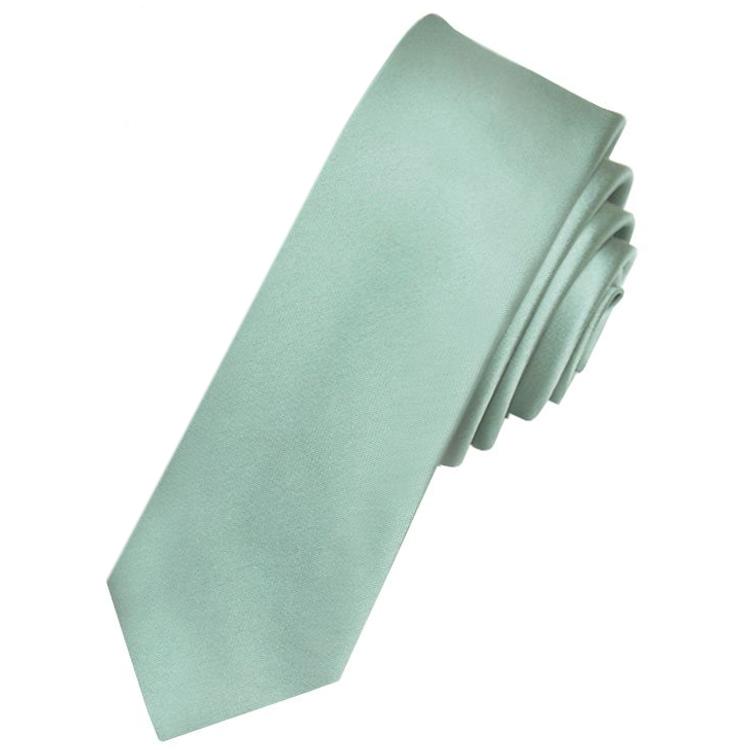 Men's Sage Green Skinny Tie