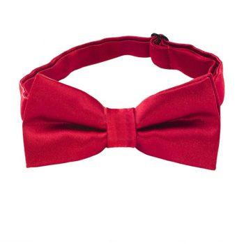 Scarlet Dark Red Boys Bow Tie