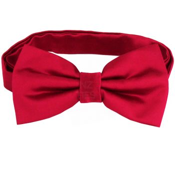 Scarlet Red Bow Tie