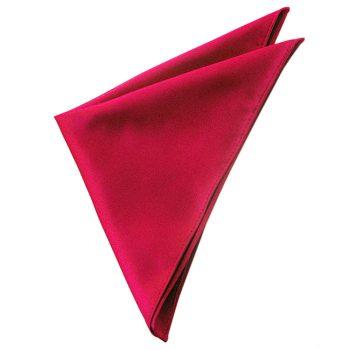 Mens Scarlet Red Pocket Square Handkerchief