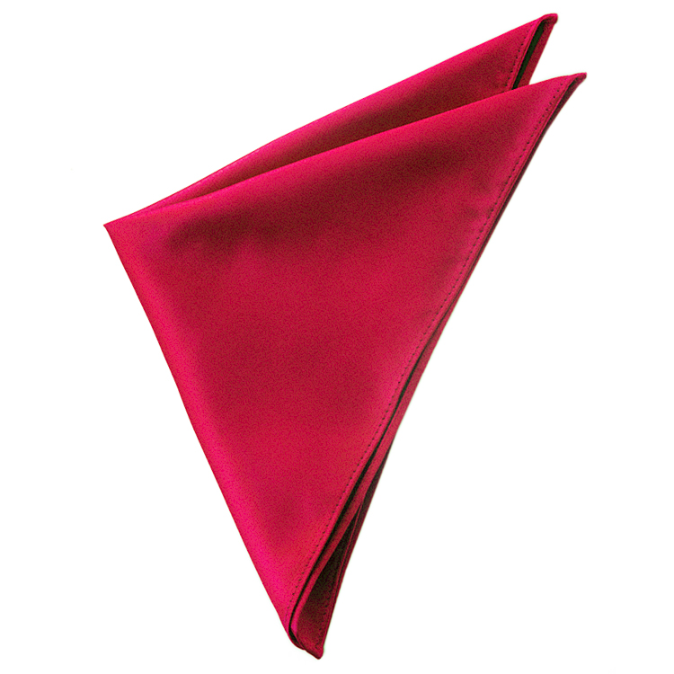 Dark Red Pocket Square