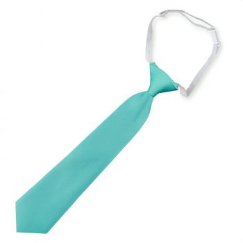 Sea Mist Turquoise Green Boys Elasticated Tie