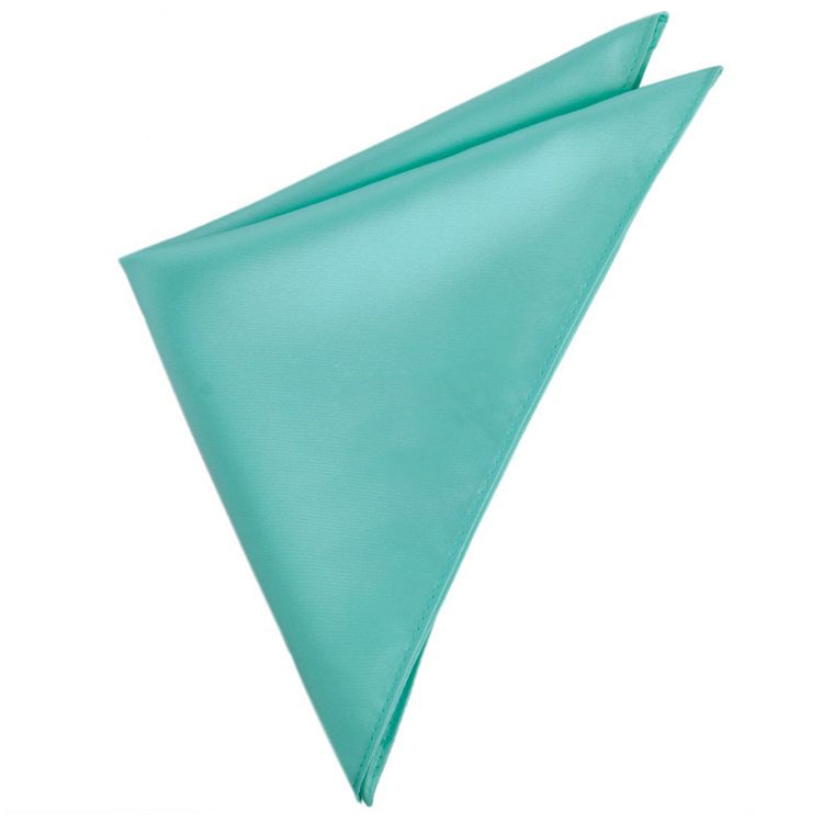 Mens Sea Mist Turquoise Green Pocket Square Handkerchief