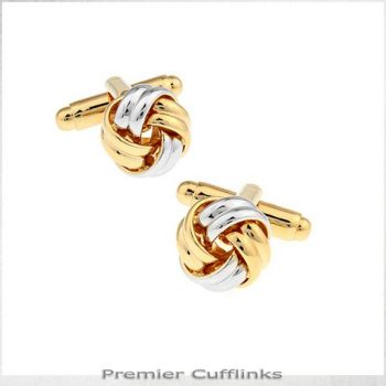 SILVER AND GOLD KNOT CUFFLINKS