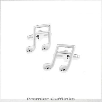 SILVER MUSIC NOTES CUFFLINKS