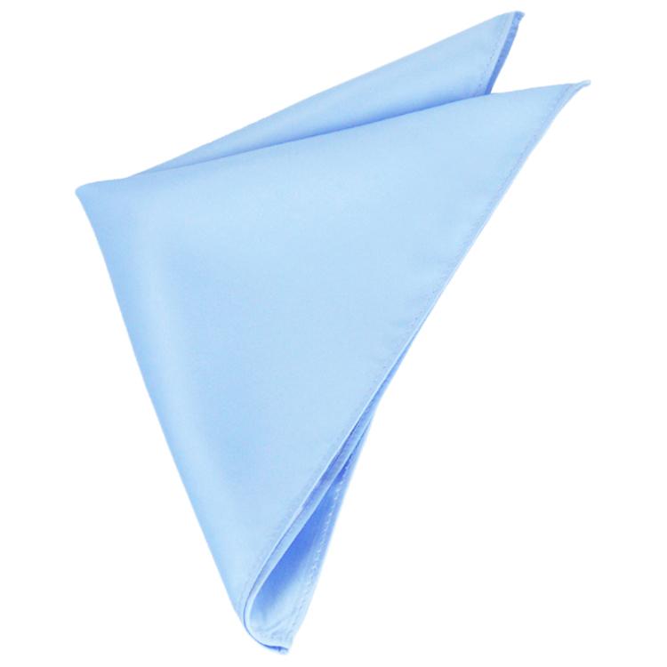 Mens Sky Baby Blue Pocket Square