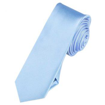 Mens Sky Baby Blue Skinny Tie