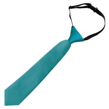 Teal Green Boys Elasticated Tie