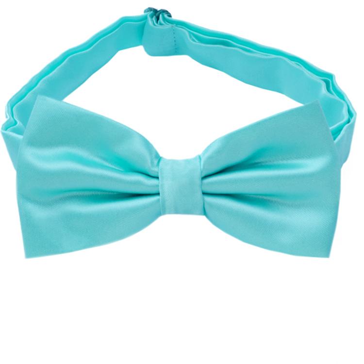 Turquoise Aqua Bow Tie